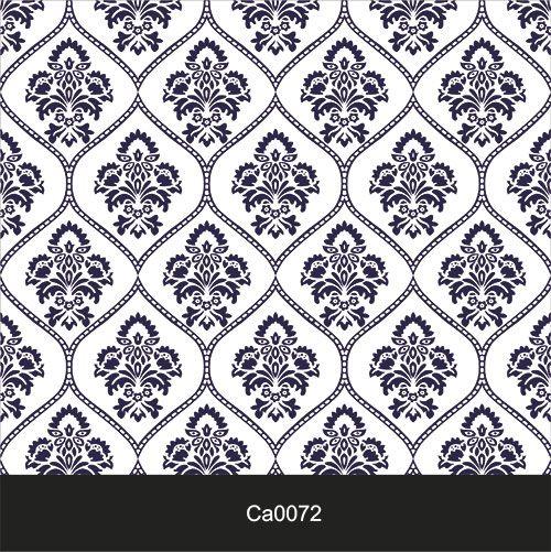 Papel de Parede Lavável Clássico Arabesco Estampado Azul CA0072  - Final Decor