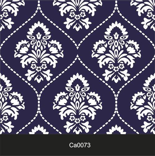 Papel de Parede Lavável Clássico Arabesco ca0073 Invertido Azul  - Final Decor