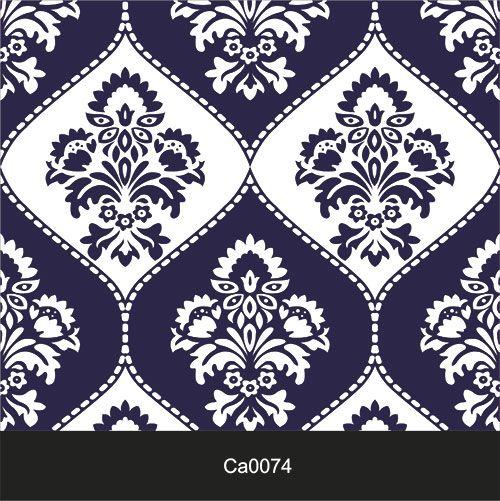 Papel de Parede Lavável Clássico Arabesco ca0074 Invertido Azul e Branco  - Final Decor