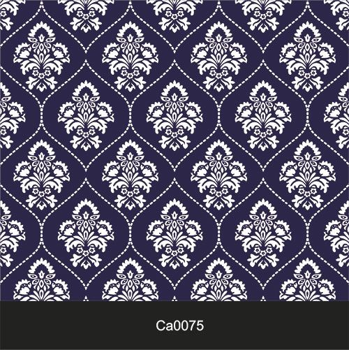 Papel de Parede Lavável Clássico Arabesco Tracejado Branco CA0075  - Final Decor