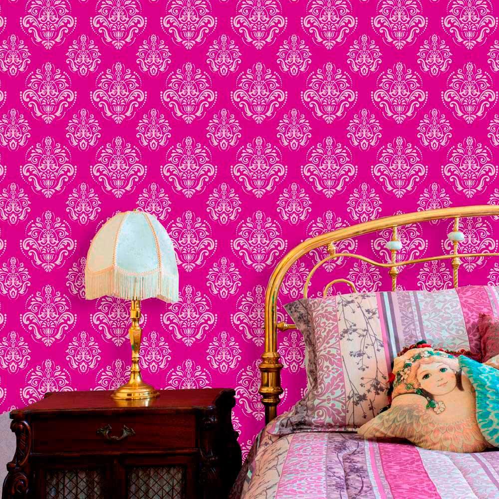 Papel de Parede Lavável Clássico Arabesco ca0079 Pink  - Final Decor