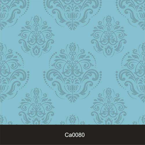 Papel de Parede Lavável Clássico Arabesco Verde Tiffany CA0080  - Final Decor