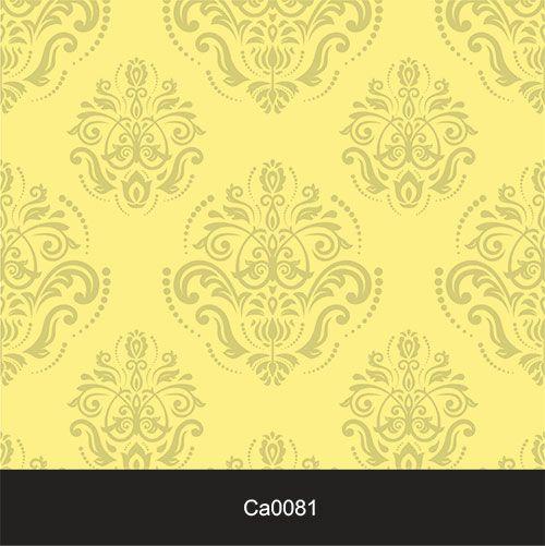 Papel de Parede Lavável Clássico Arabesco ca0081 Amarelo Sol  - Final Decor