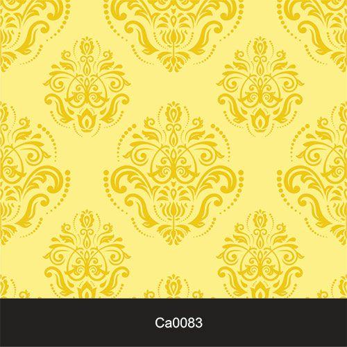Papel de Parede Lavável Clássico Arabesco Amarelo Ouro CA0083  - Final Decor