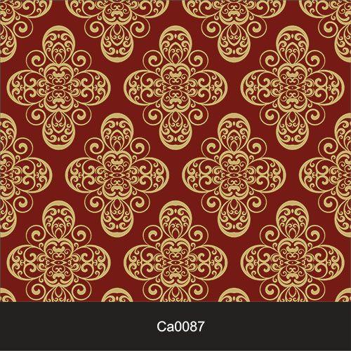Papel de Parede Lavável Clássico Arabesco Dourado CA0087  - Final Decor
