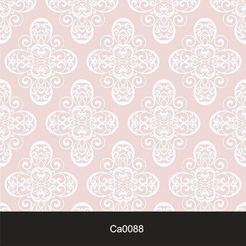 Papel de Parede Lavável Clássico Arabesco Rosa Claro CA0088   - Final Decor