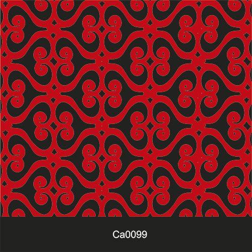 Papel de Parede Lavável Clássico Arabesco ca0099 luxo vermelho  - Final Decor