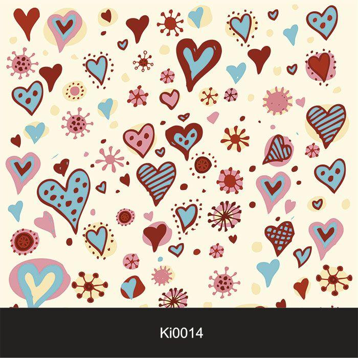 Papel de Parede Infantil Auto Adesivo Lavável 0014 Corações  - Final Decor