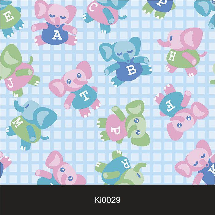 Papel de Parede Infantil Auto Adesivo Lavável Elefante Ki0029   - Final Decor