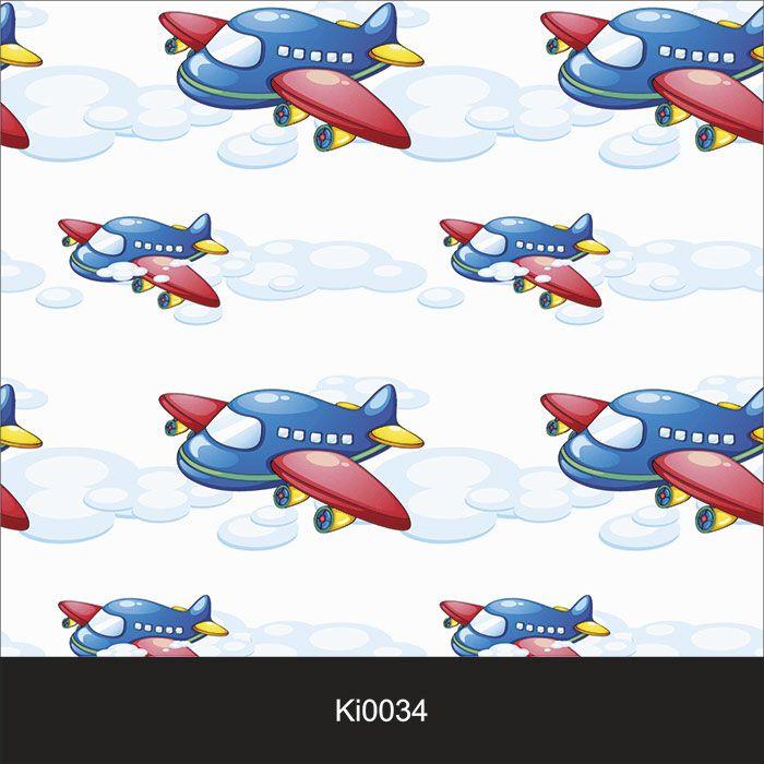 Papel de Parede Infantil Auto Adesivo Lavável 0034 Avião  - Final Decor