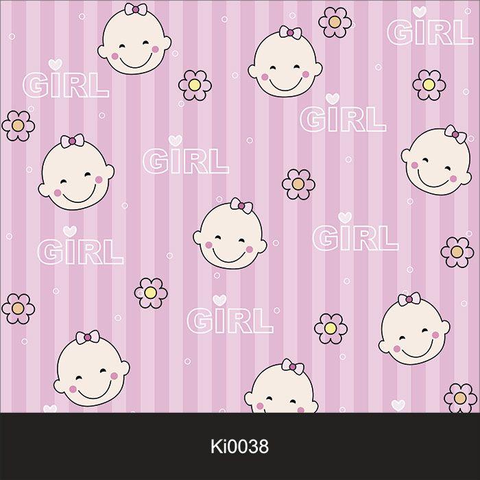 Papel de Parede Infantil Auto Adesivo Lavável Girl Ki0038  - Final Decor