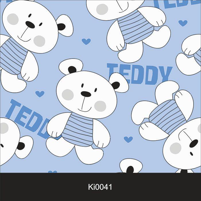 Papel de Parede Infantil Auto Adesivo Lavável 0041 Urso Teddy  - Final Decor