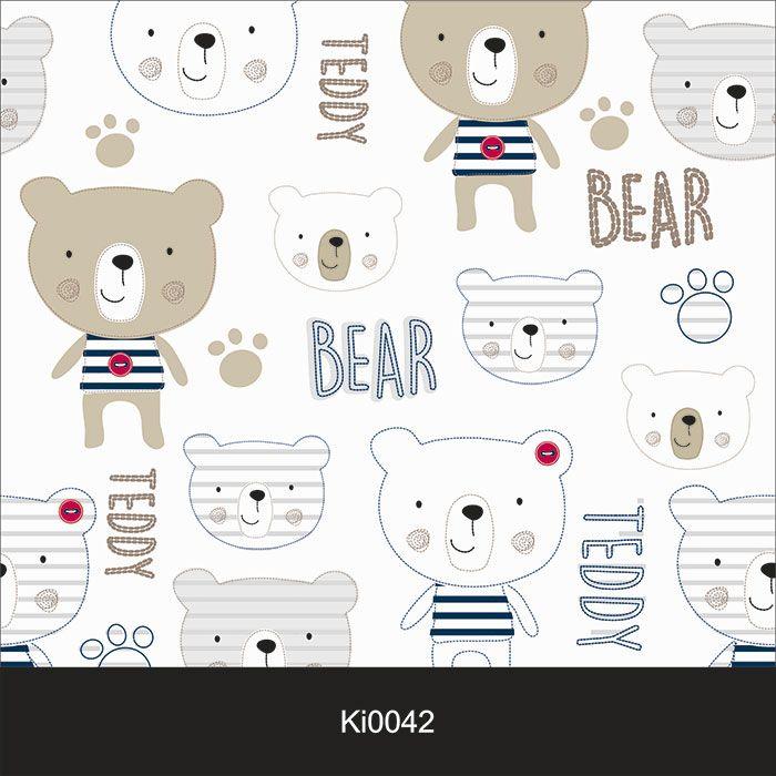 Papel de Parede Infantil Auto Adesivo Lavável 0042 Bear Urso  - Final Decor