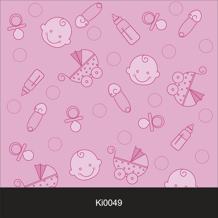 Papel de Parede Infantil Auto Adesivo Lavável 0049 baby Girl  - Final Decor