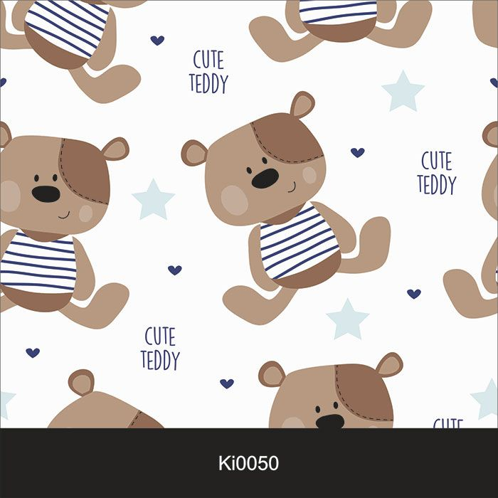 Papel de Parede Infantil Auto Adesivo Lavável 0050 Cuty Teddy Ursinho  - Final Decor