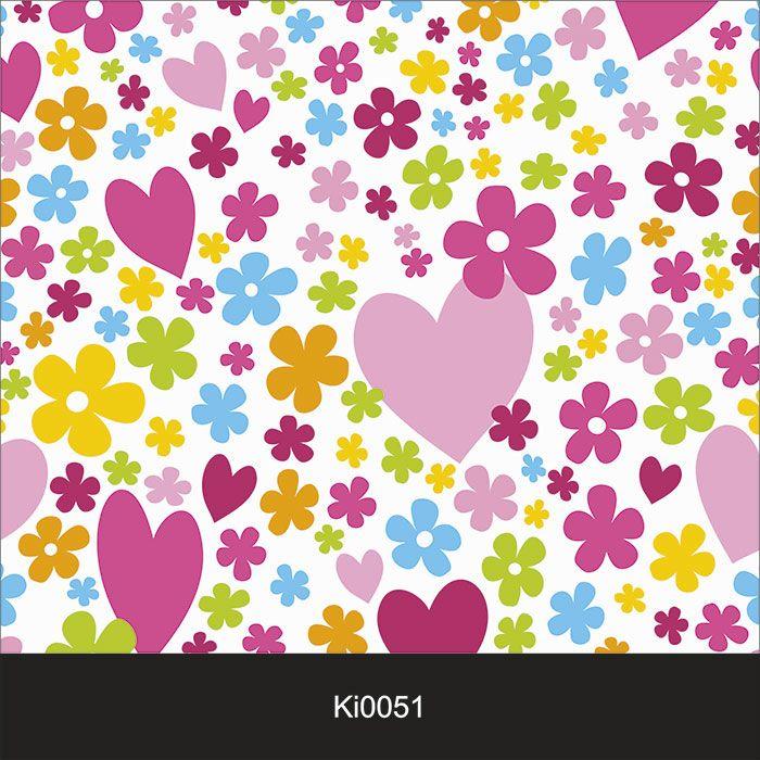 Papel de Parede Infantil Auto Adesivo Lavável 0051 Corações  - Final Decor