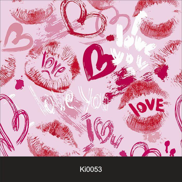 Papel de Parede Infantil Auto Adesivo Lavável Love Beijo Ki0053   - Final Decor