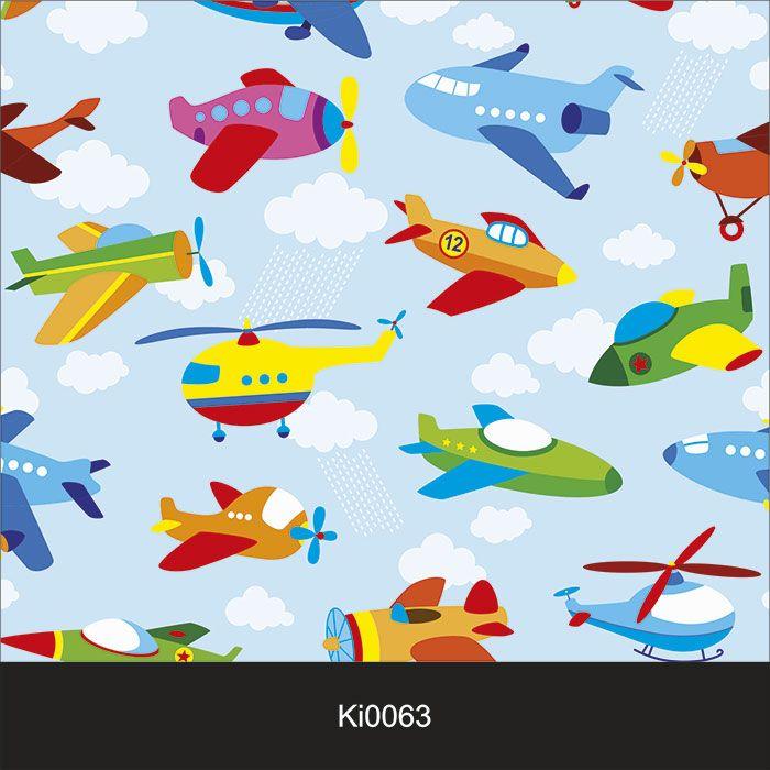 Papel de Parede Infantil Auto Adesivo Lavável 0063 Avião  - Final Decor
