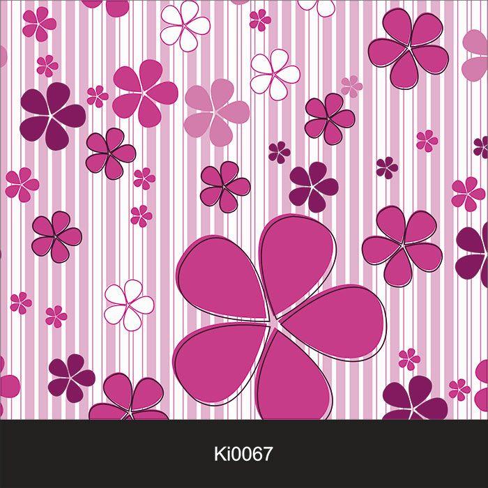 Papel de Parede Infantil Auto Adesivo Lavável 0067 Flores Magenta  - Final Decor