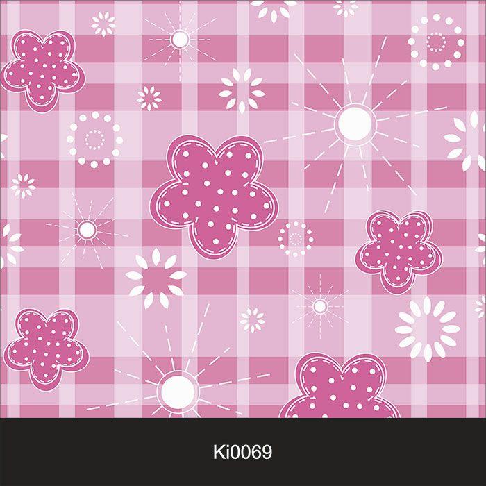 Papel de Parede Infantil Auto Adesivo Lavável 0069 Xadrez rosa  - Final Decor