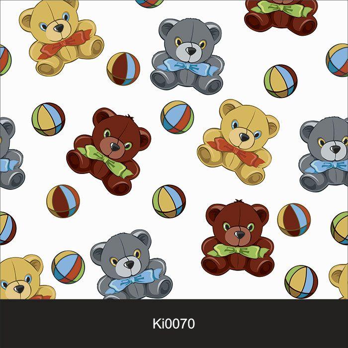 Papel de Parede Infantil Auto Adesivo Lavável 0070 Ursinho Baby  - Final Decor