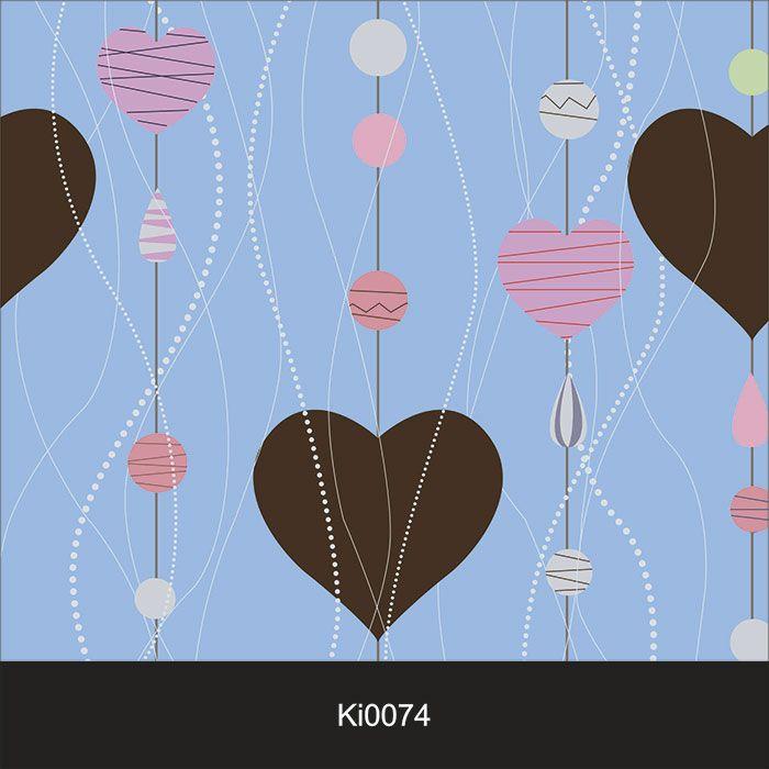 Papel de Parede Infantil Auto Adesivo Lavável Coração Chocolate Ki0074  - Final Decor
