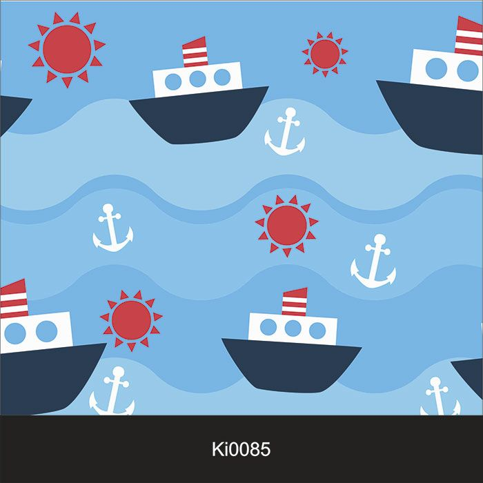 Papel de Parede Infantil Auto Adesivo Lavável 0085 Barco Marinheiro  - Final Decor