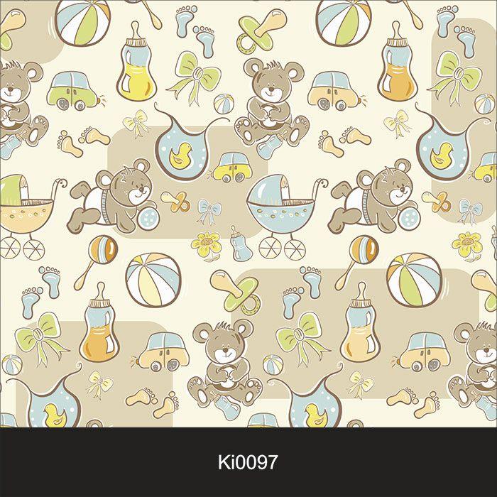 Papel de Parede Infantil Auto Adesivo Lavável 0097 Ursinho Baby  - Final Decor
