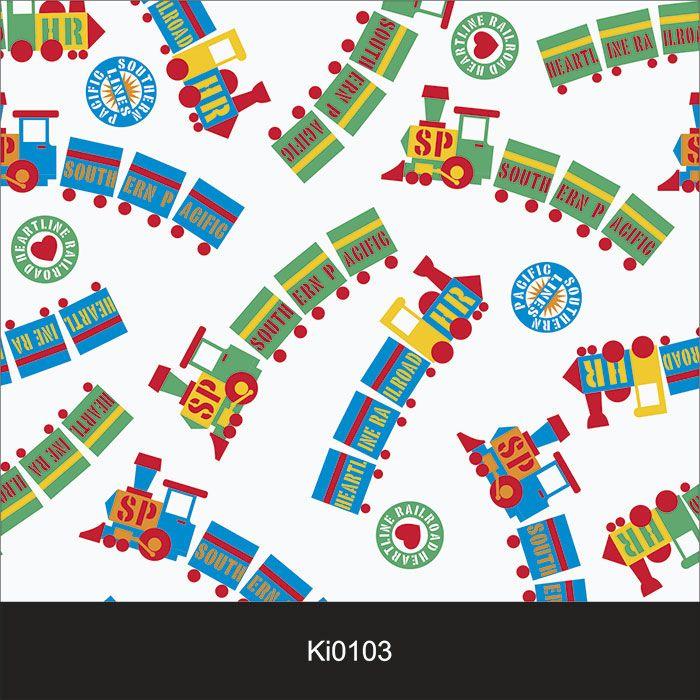 Papel de Parede Infantil Auto Adesivo Lavável Trem Trenzinho Ki0103  - Final Decor