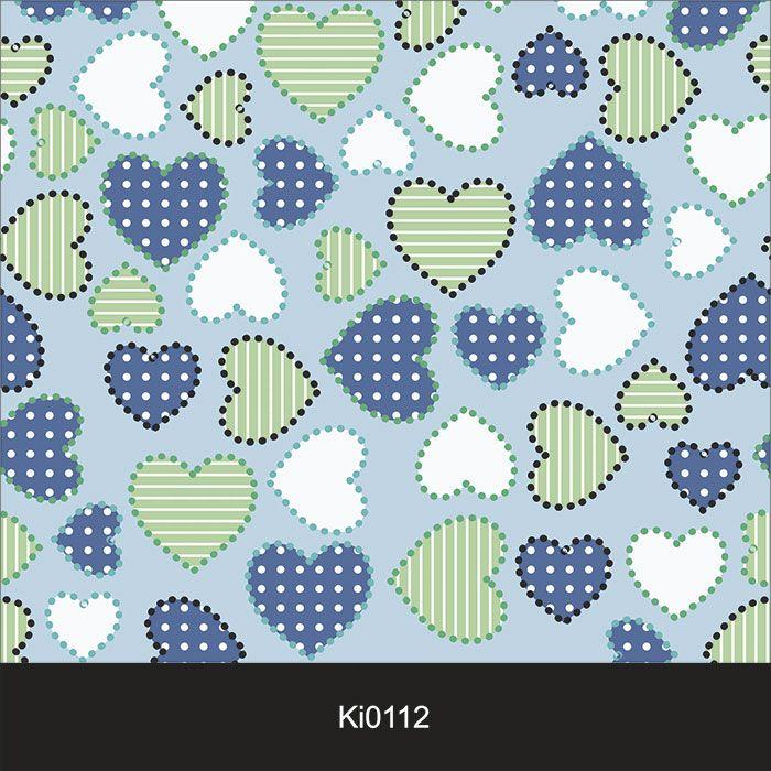 Papel de Parede Infantil Auto Adesivo Lavável Coração Ki0112  - Final Decor