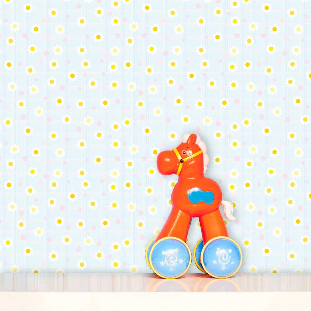 Papel de Parede Infantil Auto Adesivo Lavável 0121 Margarida  - Final Decor