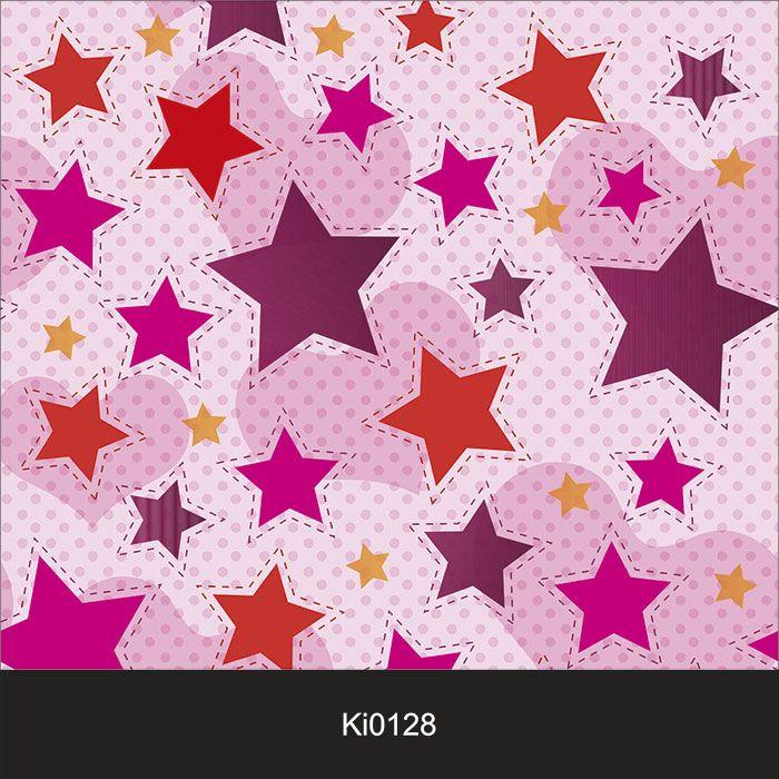 Papel de Parede Infantil Auto Adesivo Lavável 0128 Estrelas  - Final Decor