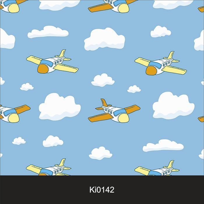Papel de Parede Infantil Auto Adesivo Lavável 0142 Avião  - Final Decor