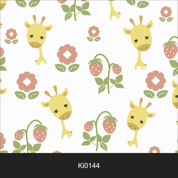 Papel de Parede Infantil Auto Adesivo Lavável 0144 Girafa Girafinha  - Final Decor