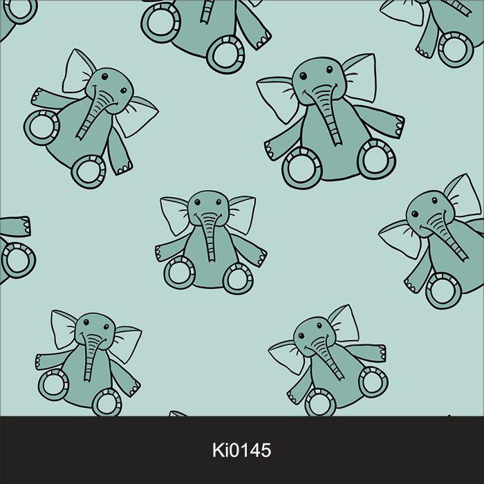 Papel de Parede Infantil Auto Adesivo Lavável Elefante Elefantinho KI0145  - Final Decor