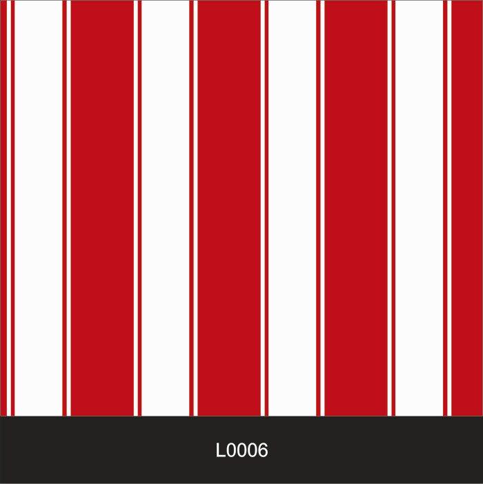 Papel de Parede Auto Adesivo Lavável  Listrado Vermelho e Branco L0006  - Final Decor
