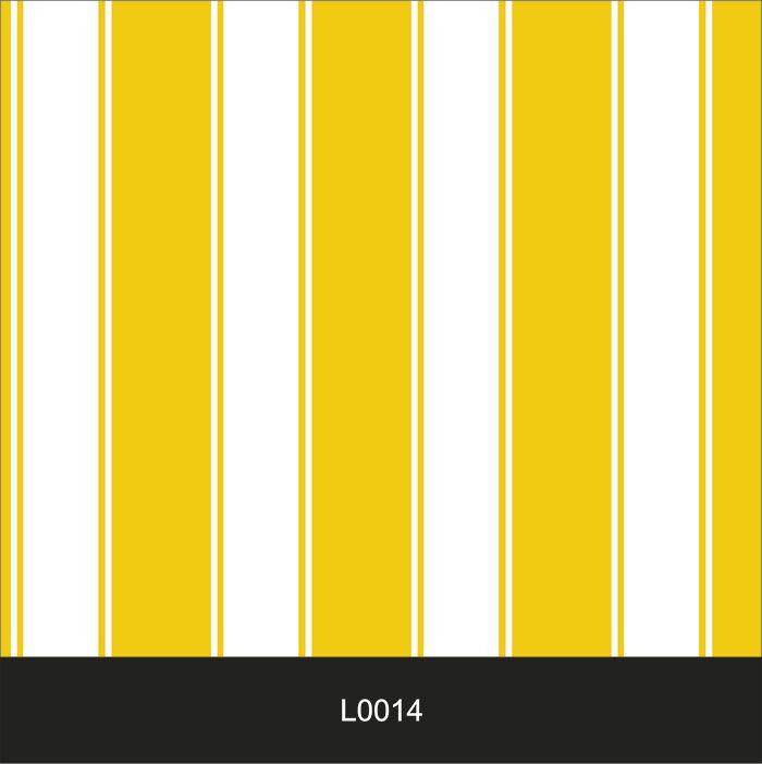 Papel de Parede Auto Adesivo Lavável  Listrado 0014 Amarelo Ouro  - Final Decor