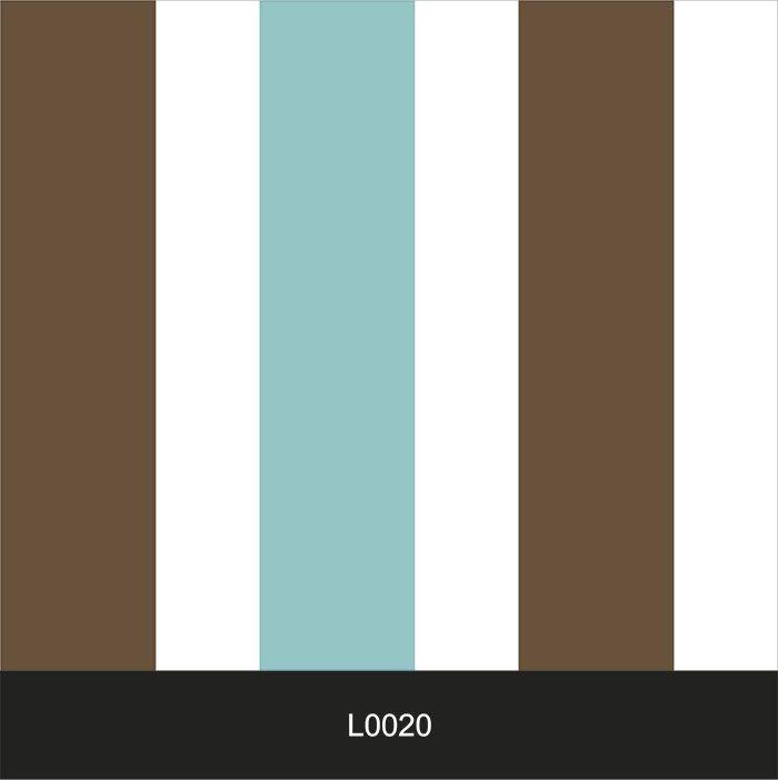 Papel de Parede Auto Adesivo Lavável  Listrado Marrom e Azul L0020   - Final Decor