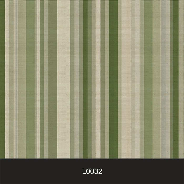 Papel de Parede Auto Adesivo Lavável  Listrado Vintage Verde L0032   - Final Decor