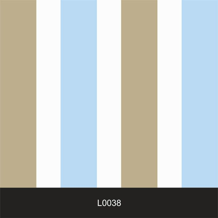 Papel de Parede Auto Adesivo Lavável  Listrado 0038 Azul e Marrom Claro  - Final Decor