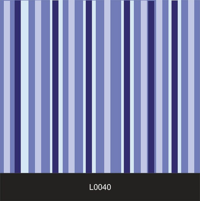 Papel de Parede Auto Adesivo Lavável  Listrado Tons de Azul L0040   - Final Decor