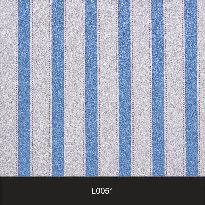 Papel de Parede Auto Adesivo Lavável  Listrado 0051 Azul Vintage  - Final Decor