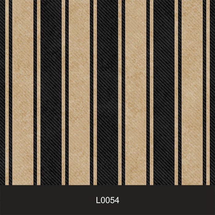 Papel de Parede Auto Adesivo Lavável  Listrado 0054 Preto e Dourado  - Final Decor