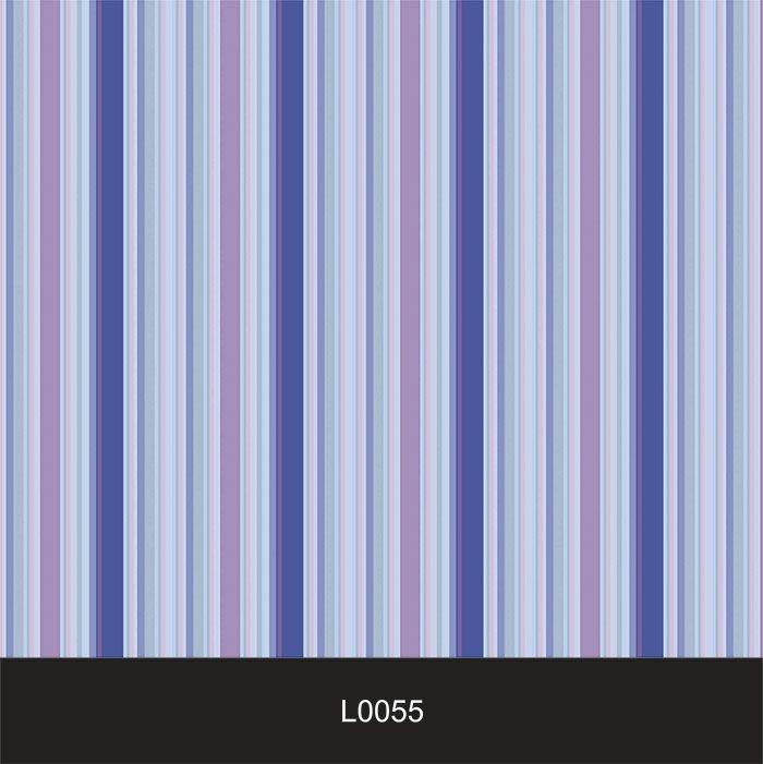 Papel de Parede Auto Adesivo Lavável  Listrado Azul Violet L0055  - Final Decor
