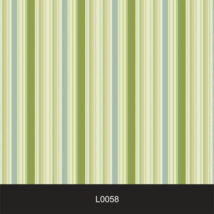Papel de Parede Auto Adesivo Lavável  Listrado Verde L0058   - Final Decor