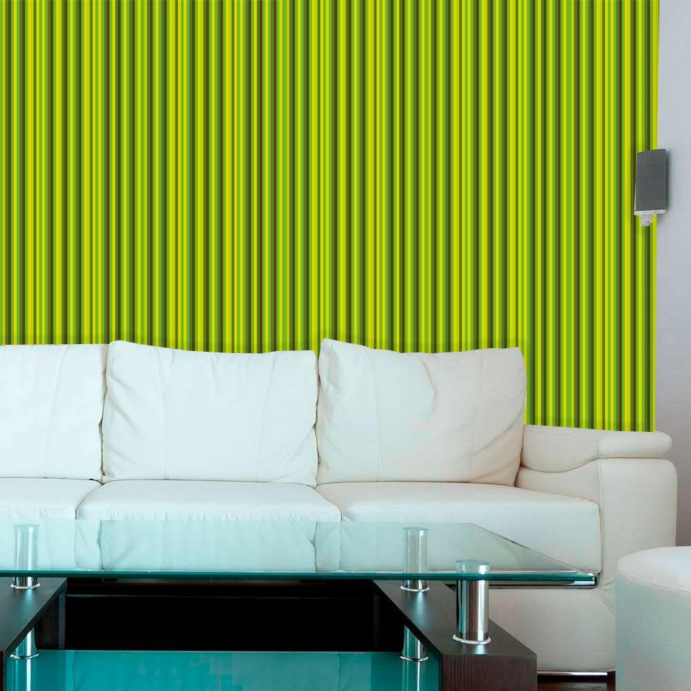 Papel de Parede Auto Adesivo Lavável  Listrado Verde Limão L0061  - Final Decor