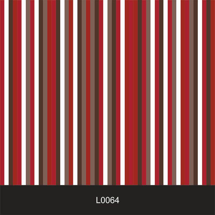 Papel de Parede Auto Adesivo Lavável  Listrado Vermelho L0064  - Final Decor