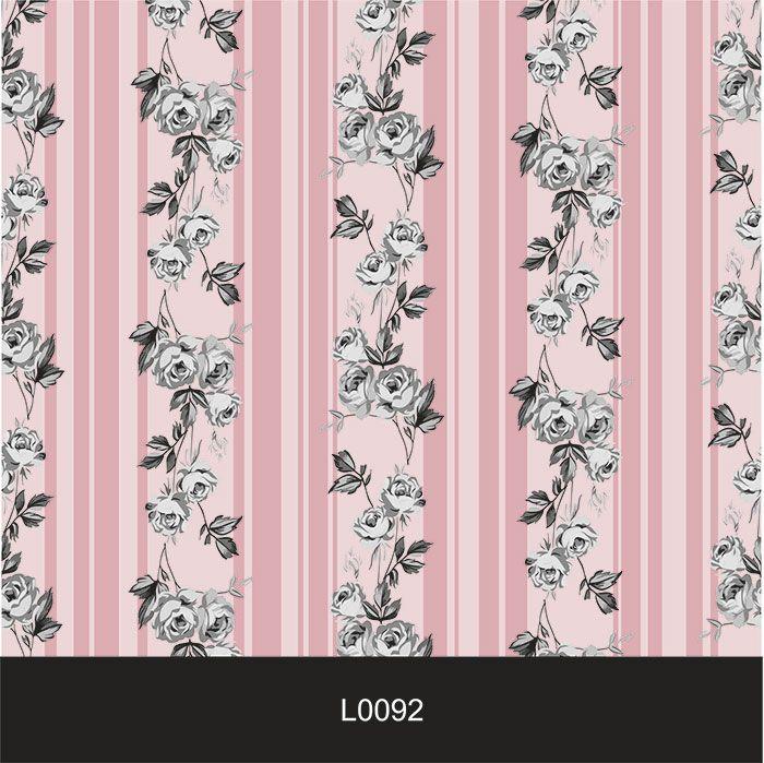 Papel de Parede Auto Adesivo Lavável  Listrado 0092 Florido Pink  - Final Decor