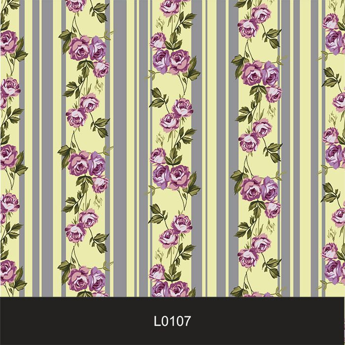 Papel de Parede Auto Adesivo Lavável  Listrado Floral Amarelo L0107  - Final Decor