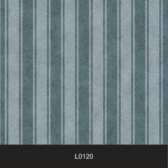 Papel de Parede Auto Adesivo Lavável  Listrado 0120 Cinza e azul Vintage  - Final Decor